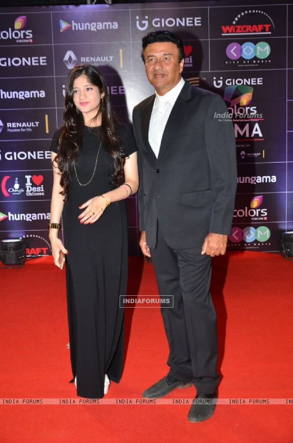 Anu Malik with Daughter at COLORS GiMA AWARDS 2016