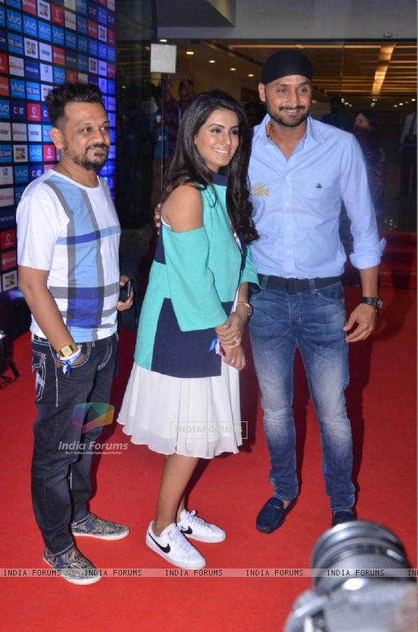 Geeta Basra and Harbhajan Singh at IPL Opening Ceremony