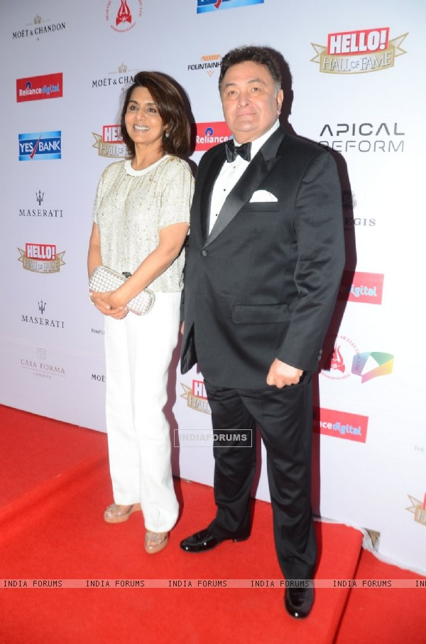 Rishi Kapoor and Neetu SIngh at 'Hello! Hall of Fame' Awards