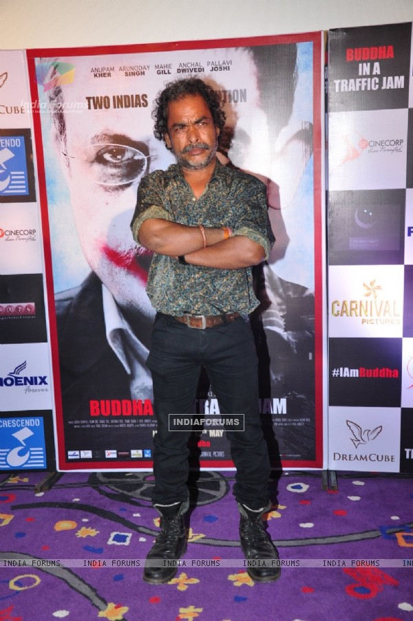 Actor Indal Raja at the Promotions of 'Buddha in a Traffic Jam'
