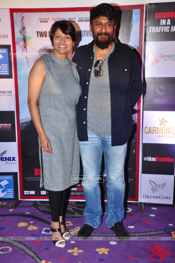Vivek Agnihotri and Pallavi Joshi at the Promotions of 'Buddha in a Traffic Jam'