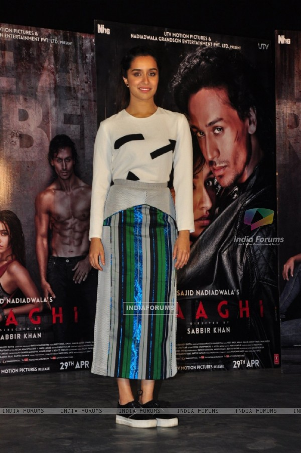 Shraddha Kapoor at Promotional Event of 'Baaghi'