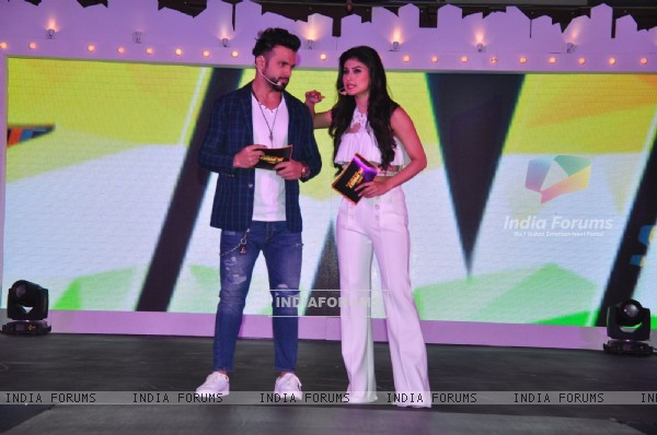 Rithvik Dhanjani and Mouni Roy at Launch of Zee TV's New Show 'So You Think You Can Dance'