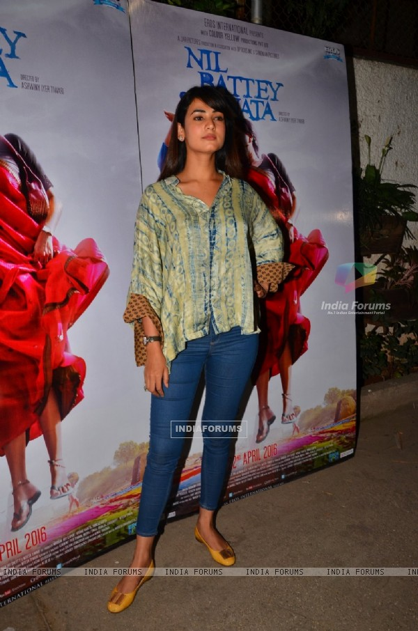 Yuvika Chaudhary at Special Screening of 'Nil Battey Sannata'