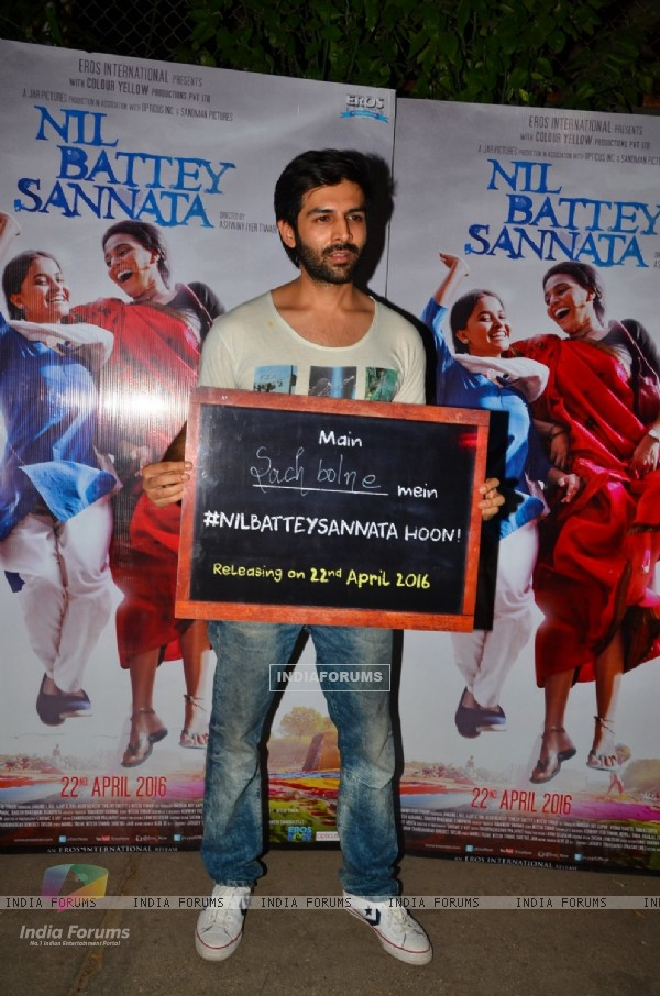 Kartik Aaryan at Special Screening of 'Nil Battey Sannata'