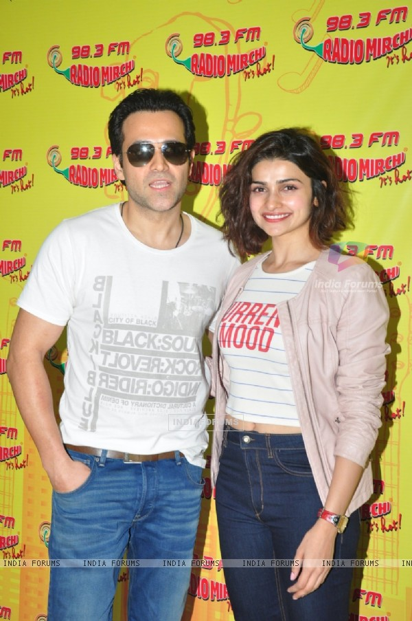 The cute and pretty Prachi Desai and Emraan Hashmi for Promotions of 'Azhar' at Radio Mirchi