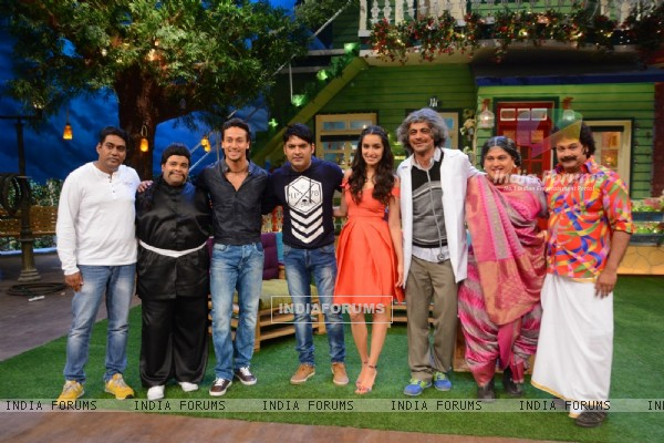Baaghi Promotions: Tiger and Shraddha with The Kapil Sharma Show team