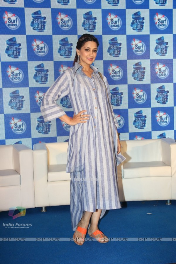 Sonali Bendre at Surf Excel Promotions