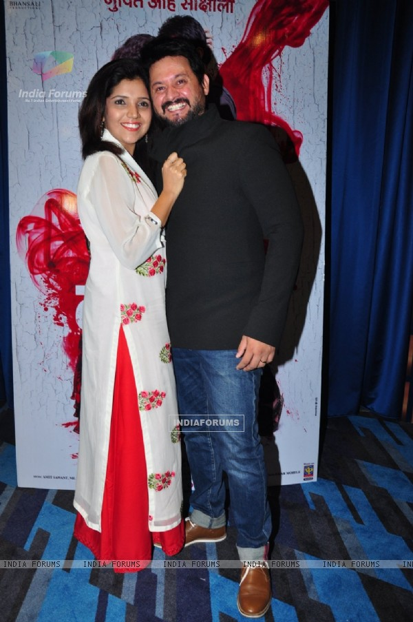 Swapnil Joshi and Mukta Barve at Launch of the film 'Lal Ishq'