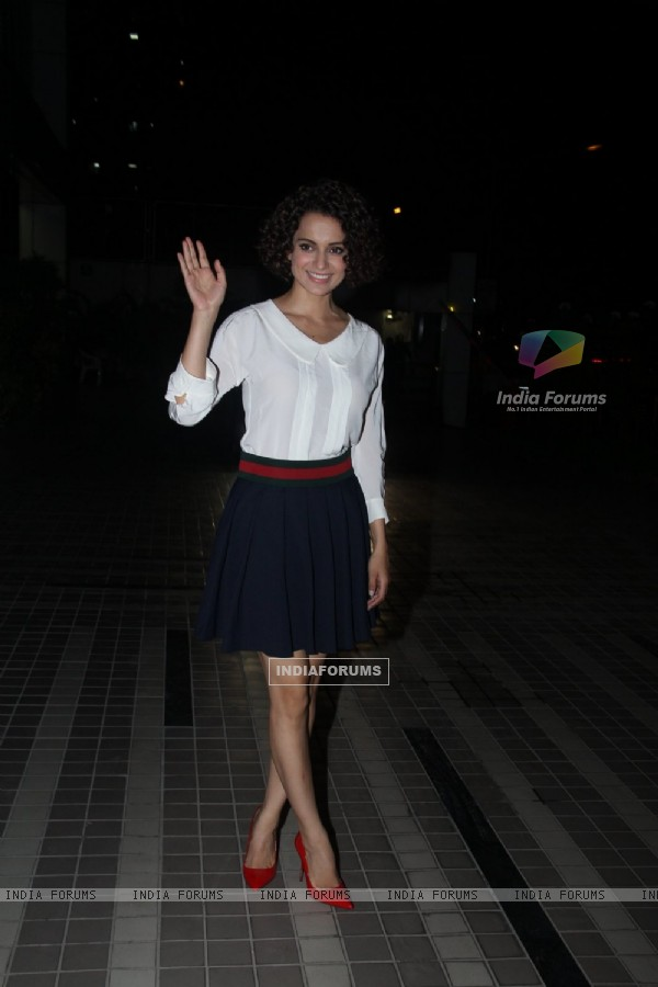 Kangana Ranaut at Wrap Up Bash of 'Rangoon'