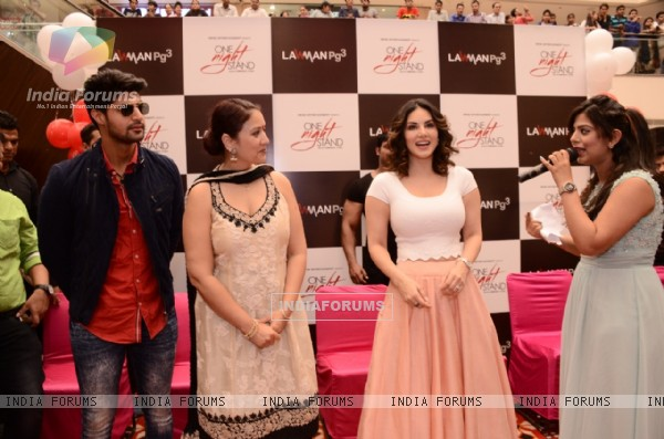 Sunny Leone and Tanu Virwani Promote 'One Night Stand' in Delhi