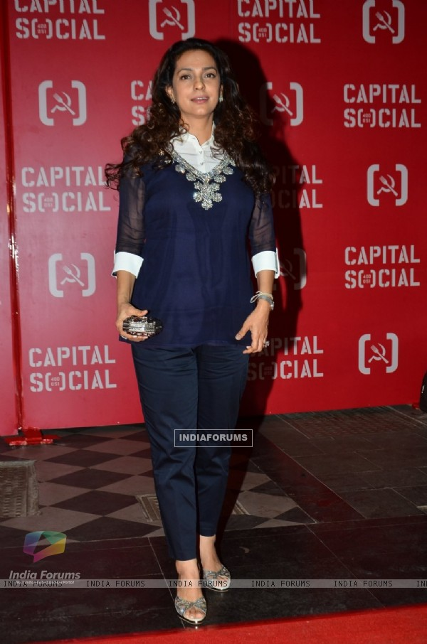 Juhi Chawla at Launch of Capital Social