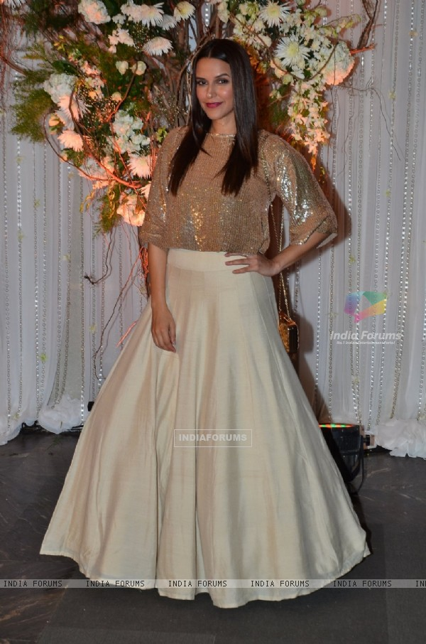 Neha Dhupia at Karan - Bipasha's Star Studded Wedding Reception