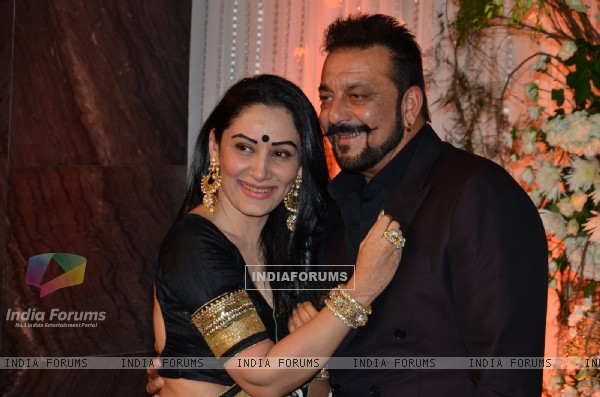 Sanjay Dutt and Manyata Dutt at Karan - Bipasha's Star Studded Wedding Reception