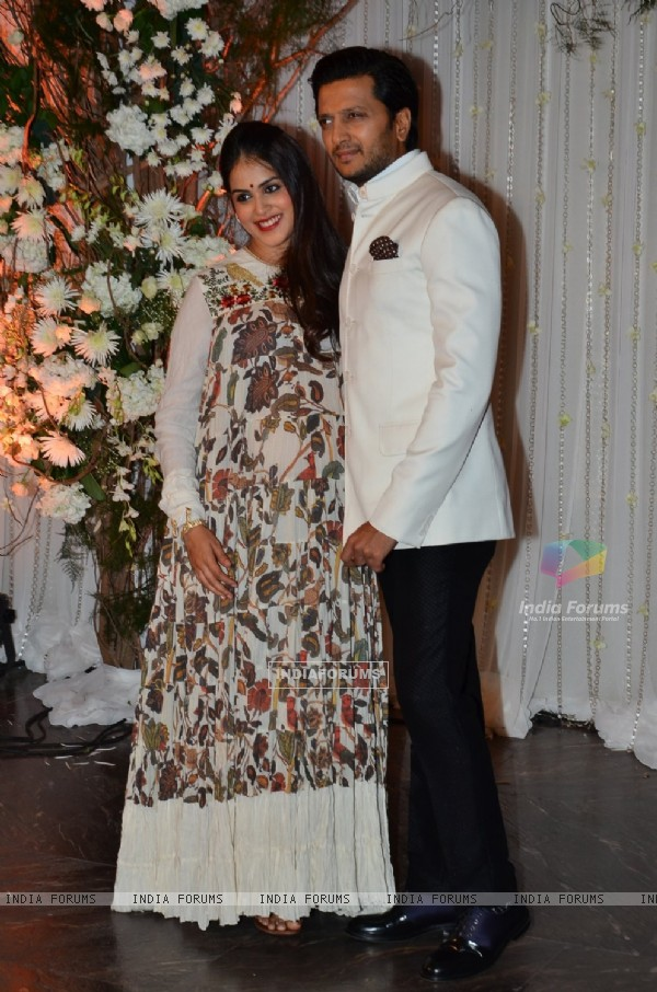 Riteish Deshmukh and Genelia Dsouza at Karan - Bipasha's Star Studded Wedding Reception
