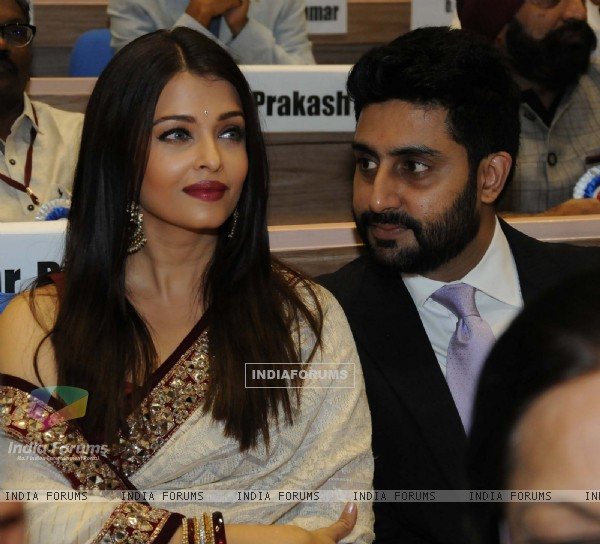 Aishwarya Rai Bachchan and Abhishek Bachchan at National Award Ceremony