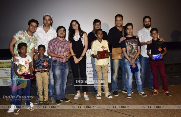 Vinay Rohrra and Sumeet Raghavan at 'We Care Trust's Special Screening of 'Kung Fu Panda 3'