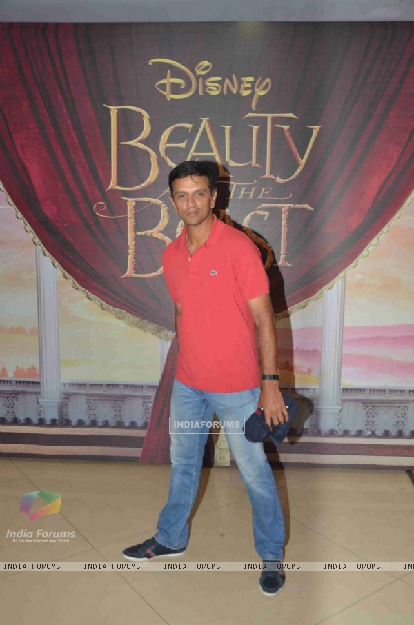 Cricketer Rahul Dravid at Special Screening of 'Beauty and the Beast'