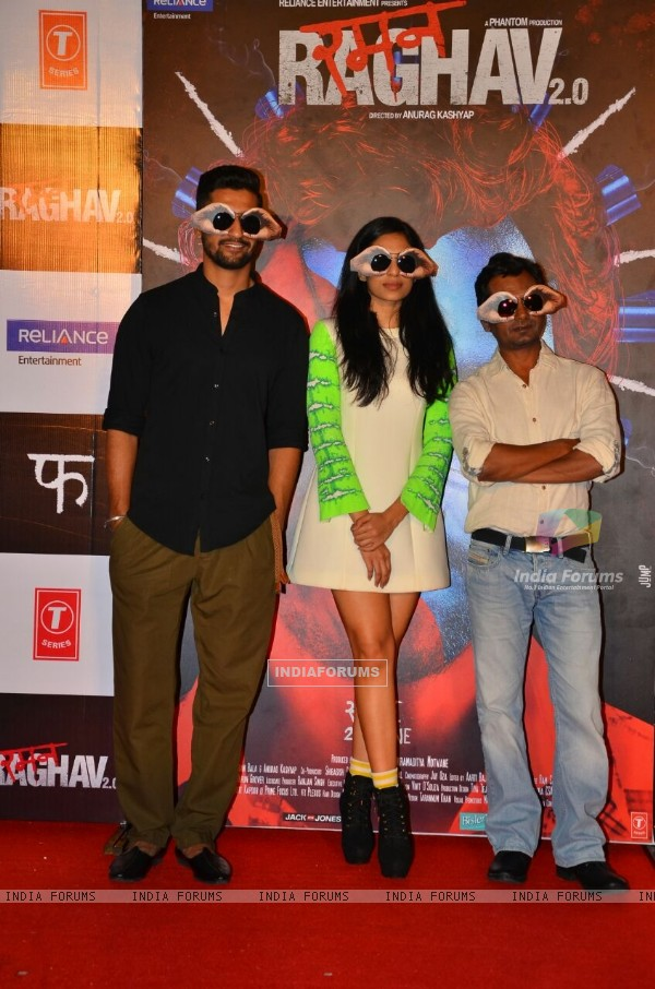Nawazuddin Siddiqui, Vicky Kaushal and Sobhita Dhuliwala at Trailer Launch of the film 'Raman Raghav