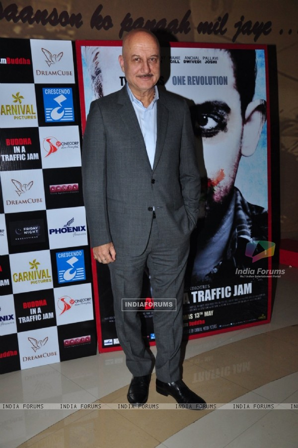 Anupam Kher at Special Screening of 'Buddha in Traffic Jam'