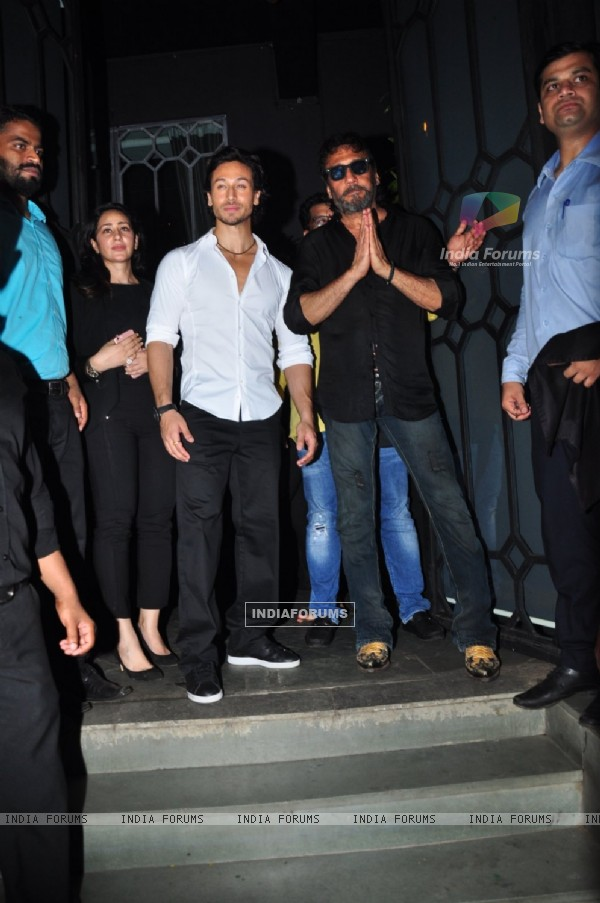 Tiger Shroff with dad Jackie Shroff at Success Bash of 'Baaghi'