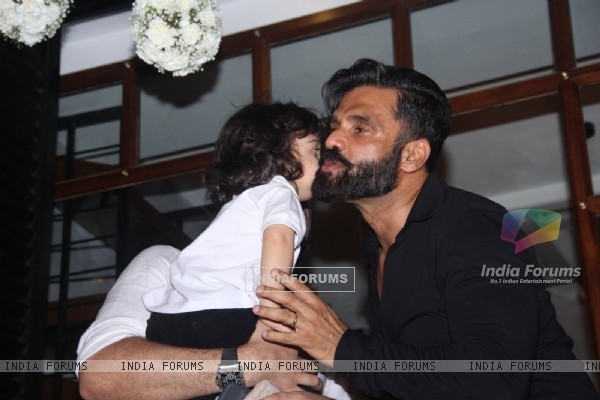 Suniel Shetty at Relaunch of Ayesha Takia's cafe 'Basilico'