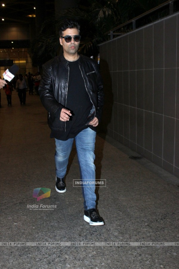 Karan Johar Snapped at Airport