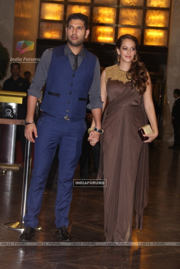 Yuvraj Singh Grace the Wedding Reception of Preity Zinta & Gene Goodenough