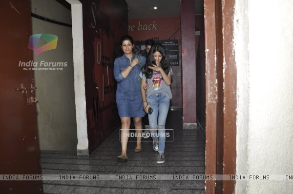 Twinkle Khanna Snapped with her kids at PVR