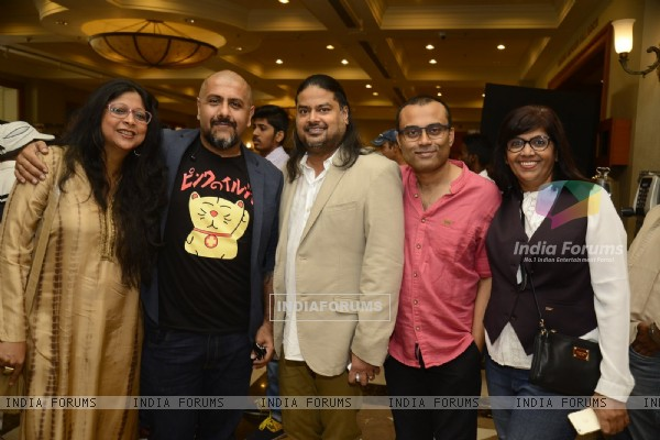 Vishal Dadlani, Amitabh Bachchan, Clinton Cerejo and Ribhu Dasgupta at Song Launch of 'TE3N'