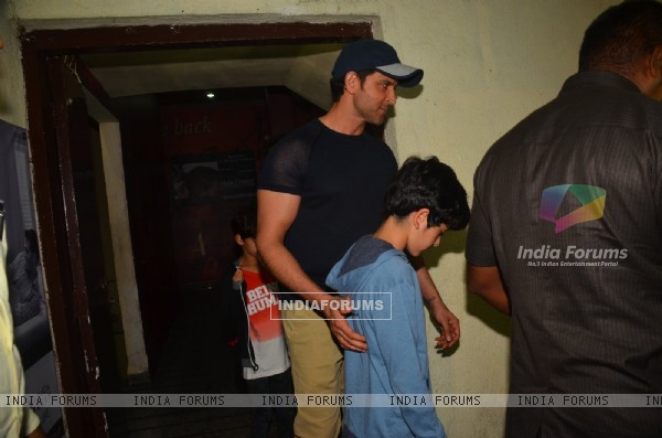 Hrithik Roshan & Tusshar Kapoor Snapped at PVR in Juhu