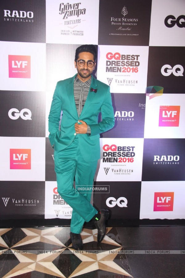 Ayushmann Khurrana Grace the 'GQ Best Dressed Men 2016' Event