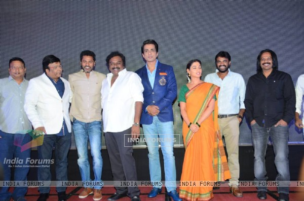 Prabhu Deva, Tamannaah Bhatia and Sonu Sood at Launch of the film 'Abhinetri'