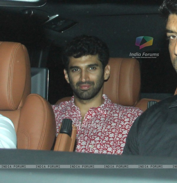 Aditya Roy Kapur Snapped at Karan Johar's House