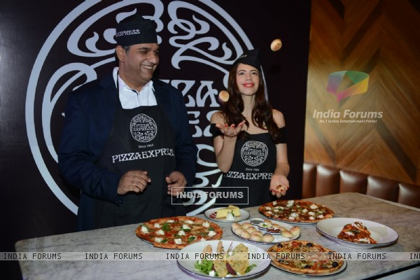 Kalki Koechlin launches Pizza Express in Delhi