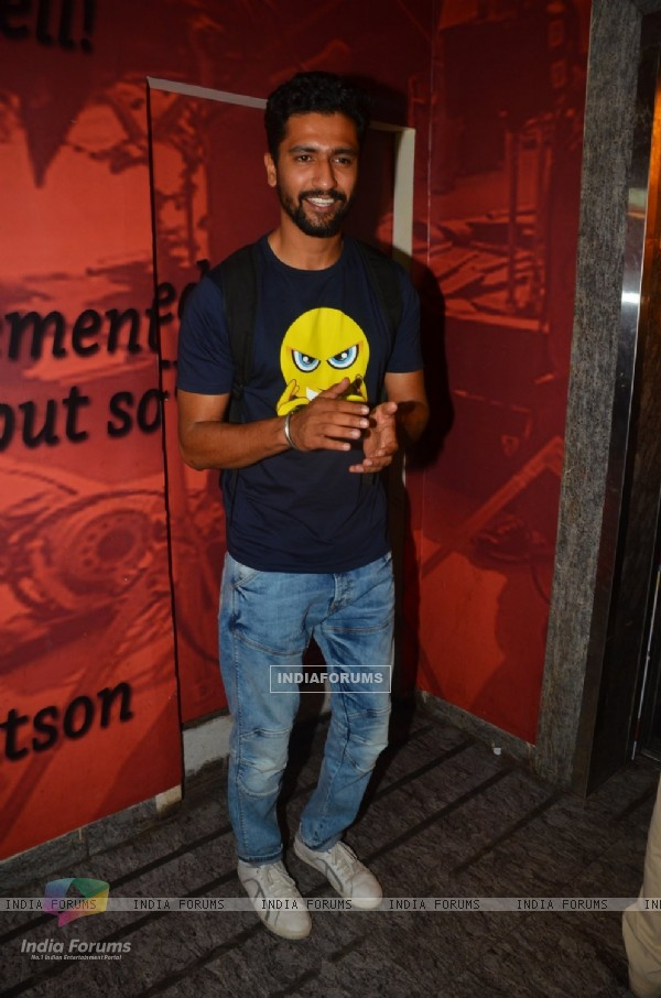Vicky Kaushal at Special Screening of 'TE3N'