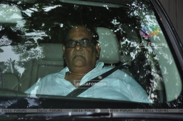 Satish Kaushik at Funeral of Arjun Kapoor's grandmother 'Sattee Shourie'