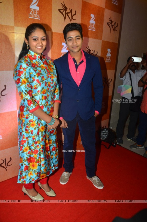 Akash Thosar and Rinku Rajguru at Success Bash of Film 'Sairat'