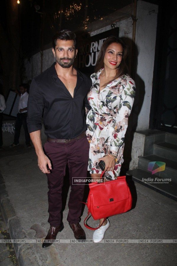 Karan Singh Grover & Bipasha Basu Snapped outside 'Korner House'