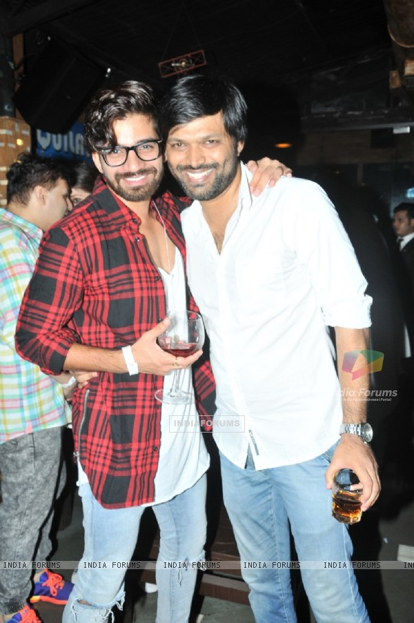 Anand Mishra and Vishal Singh at Sana Khan's Birthday Bash!