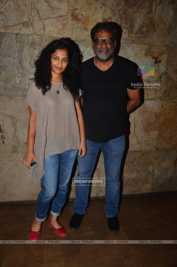 Gauri Shinde and R. Balki at Special Screening of 'Udta Punjab'