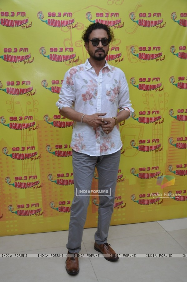 Irrfan Khan at Radio Mirchi Studio