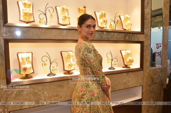 Aditi Rao Hydari at PC Chandra Jewellers Store