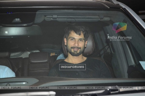 Shahid Kapoor at Karan Johar's Bash