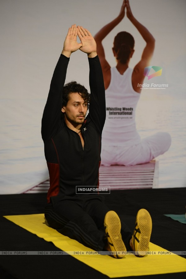 Tiger Shroff Celebrates 'World Yoga Day' at Whistling Woods