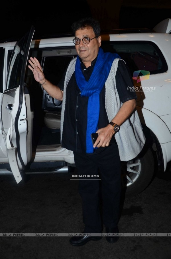Subhash Ghai Snapped at Airport