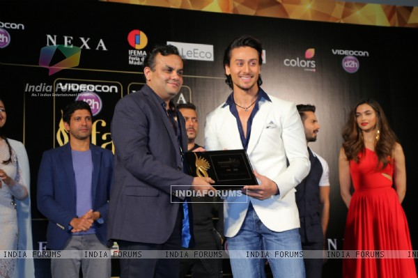 Tiger Shroff at Press Meet of 'IIFA' in Madrid