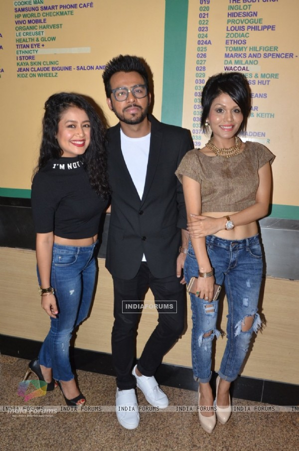 Neha Kakkar Sonu Kakkar and Tony Kakkar at Music Launch of the film 'Fever'