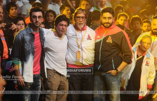 Ranbir Kapoor, Shah Rukh Khan, Amitabh Bachchan at Launch of Pro Kabaddi League-Season 4