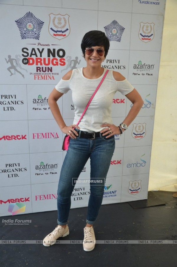 Mandira Bedi at 'Say No To Drugs' Marathon